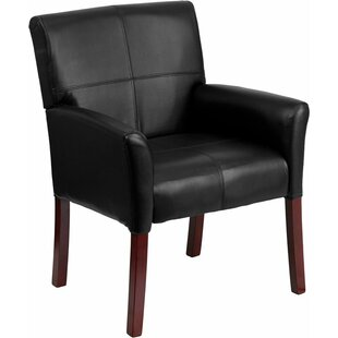 Dunson Leather Executive Guest Chair by Ebern Designs