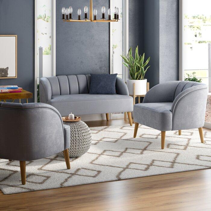 Javion 3 Piece Living Room Set