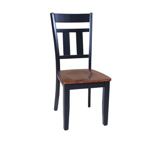 Jesenof Slat Back Solid Wood Dining Chair by Red Barrel Studio