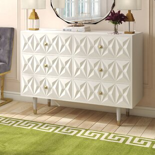 Morley 6 Drawer Double Dresser by Everly Quinn