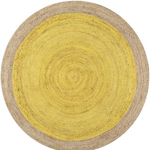 Greiner Hand-Woven Yellow Area Rug by Beachcrest Home