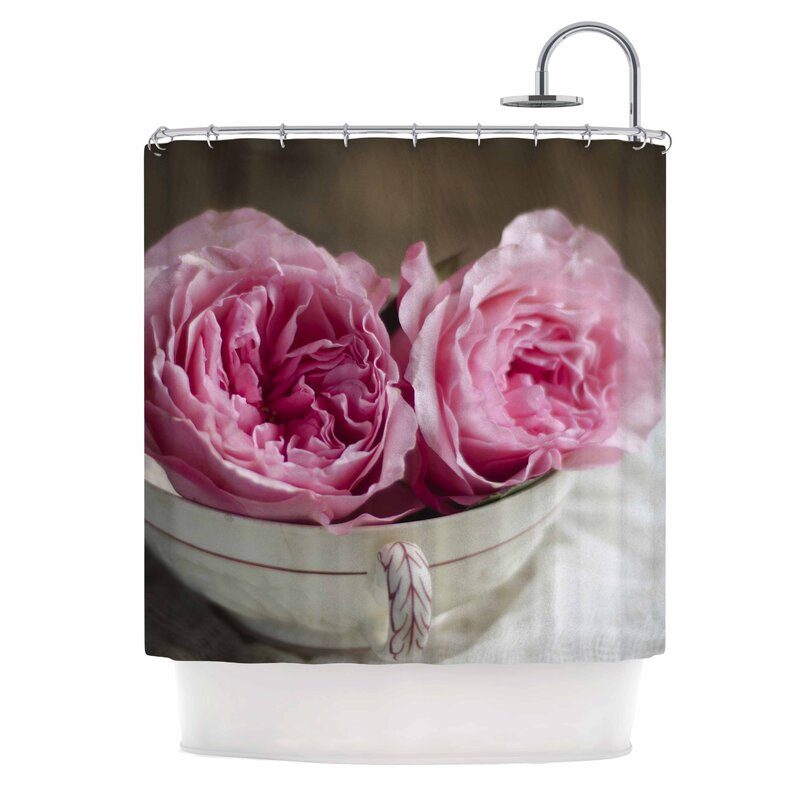 Cristina Mitchell Roses In A Tea Cup Peony Shower Curtain