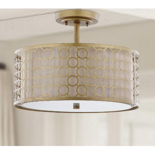 Torpoint 3-Light Semi Flush Mount by Mercer41