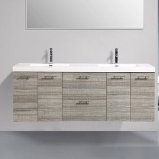 Ophir 84 Wall-Mounted Double Bathroom Vanity by Orren Ellis