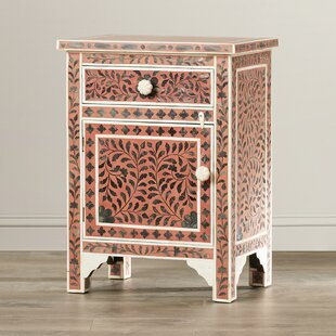 Tassiltante Kayla 1 Drawer and 1 Door Chairside Accent Cabinet by Bungalow Rose