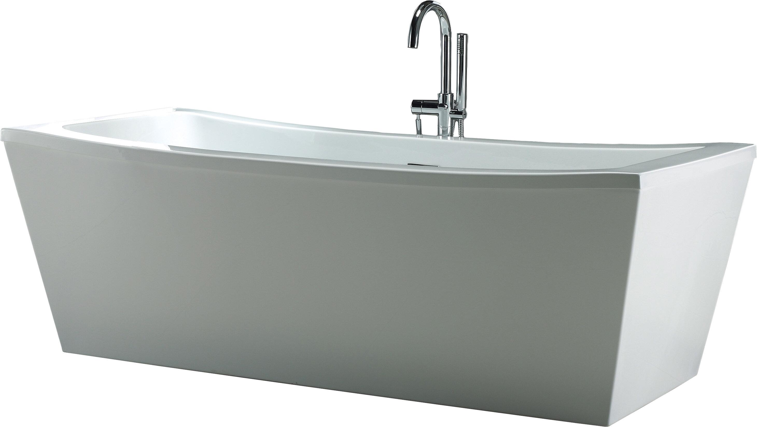bathtubs free wyndham today bathtub oval aarhus garden overstock shipping product home freestanding