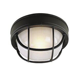 Online Reviews Dwight  Metal Outdoor Flush Mount By Charlton Home