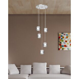 LaKala 5-Light Cluster Pendant by Orren Ellis