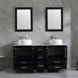 Dezirea 24 Double Bathroom Vanity Set with Mirror by Latitude Run