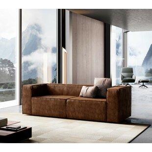 Modern & Contemporary Italian Leather Sleeper Sofa | AllModern