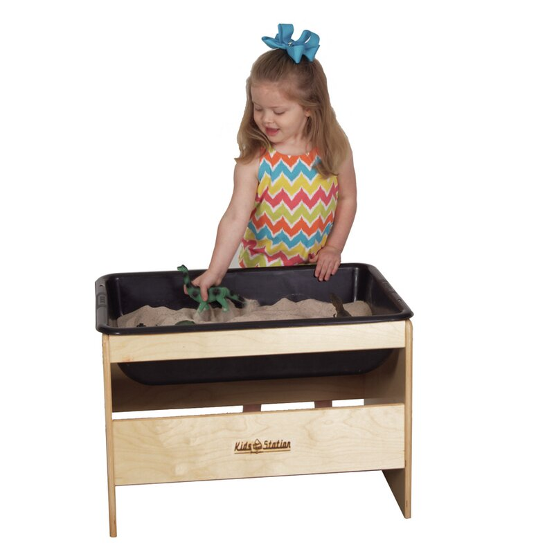 Toddler Sensory Sand and Water Table with Cover  sc 1 st  Wayfair.com & Kids\u0027 Station Toddler Sensory Sand and Water Table with Cover ...