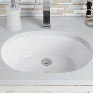 Find for Vitreous China Oval Undermount Bathroom Sink By Polaris Sinks