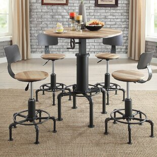 Angelica Wine 5 Piece Pub Table Set