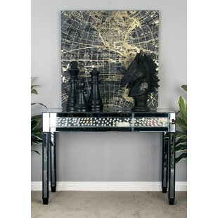 Cole & Grey Console Table With Mirrored P..