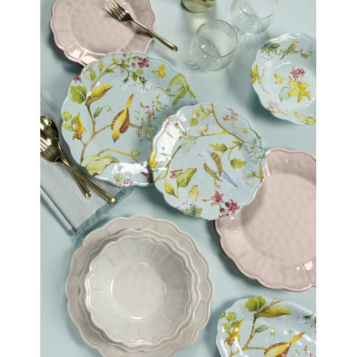 Lecroy Spring Chinoiserie 12 Piece Melamine Dinnerware Set Service for 4  sc 1 st  Wayfair & Ophelia u0026 Co. Lecroy Spring Chinoiserie 12 Piece Melamine Dinnerware ...