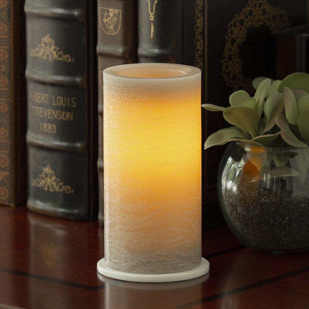 Ebern Designs Wax Pillar Unscented Flameless Candle Reviews Wayfair
