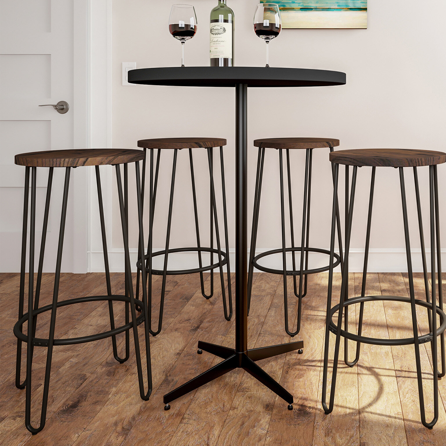 Cool Cadell Hairpin 30 Bar Stool Gmtry Best Dining Table And Chair Ideas Images Gmtryco