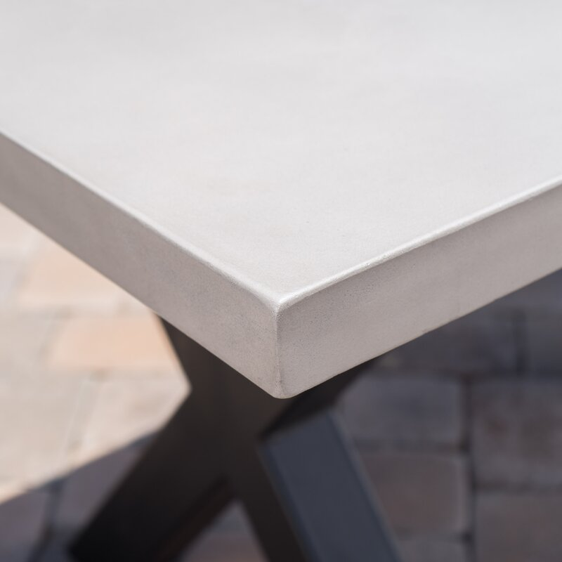 Bodil Concrete Rectangular Dining Table
