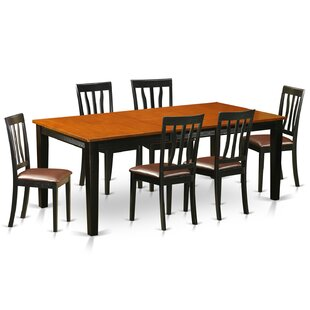 Loraine 7 Piece Solid Wood Dining Set Red Barrel Studio