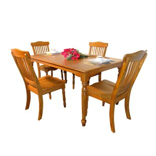 Laguna 5 Piece Solid Wood Dining Set
