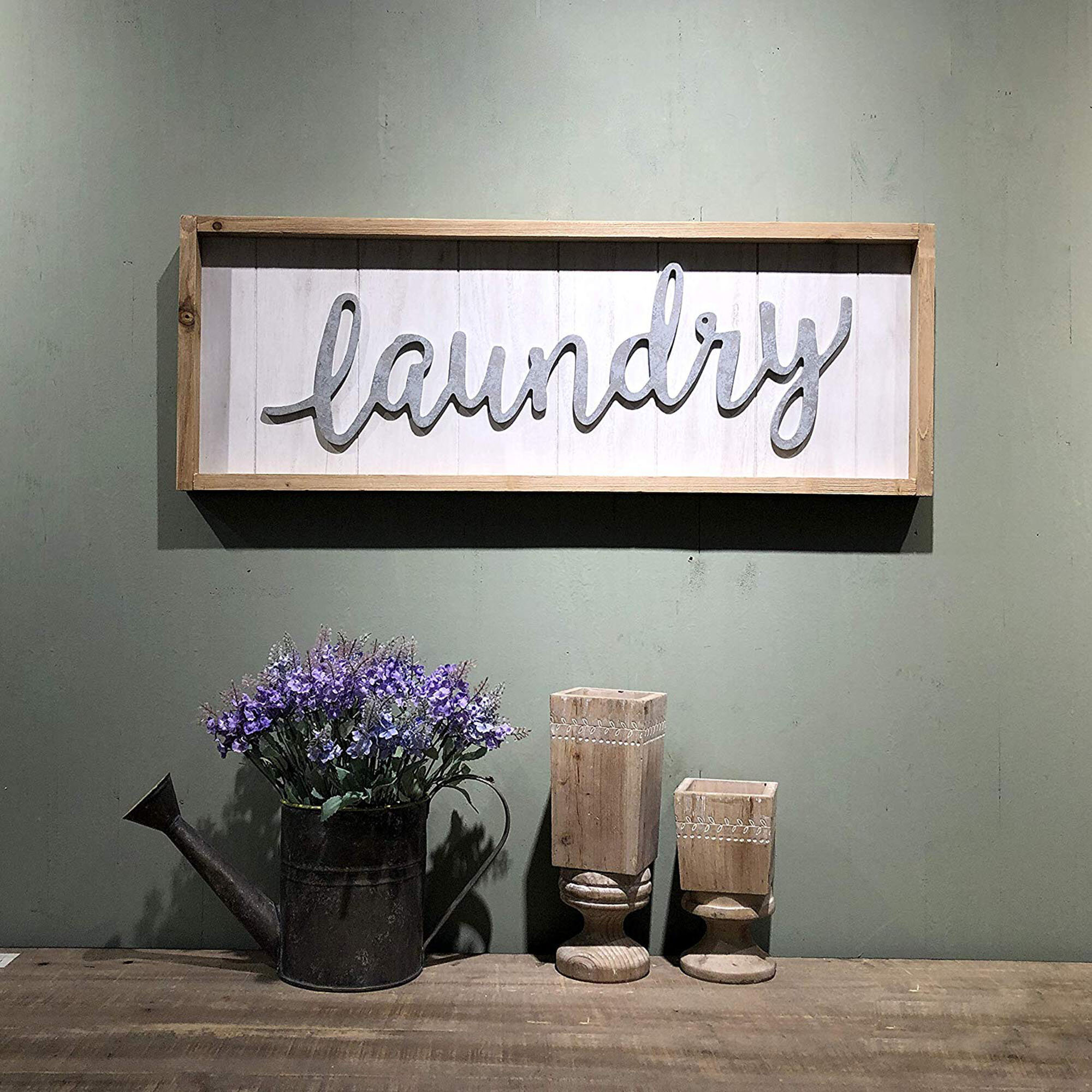 Gracie Oaks Laundry Sign Wall Decor Reviews
