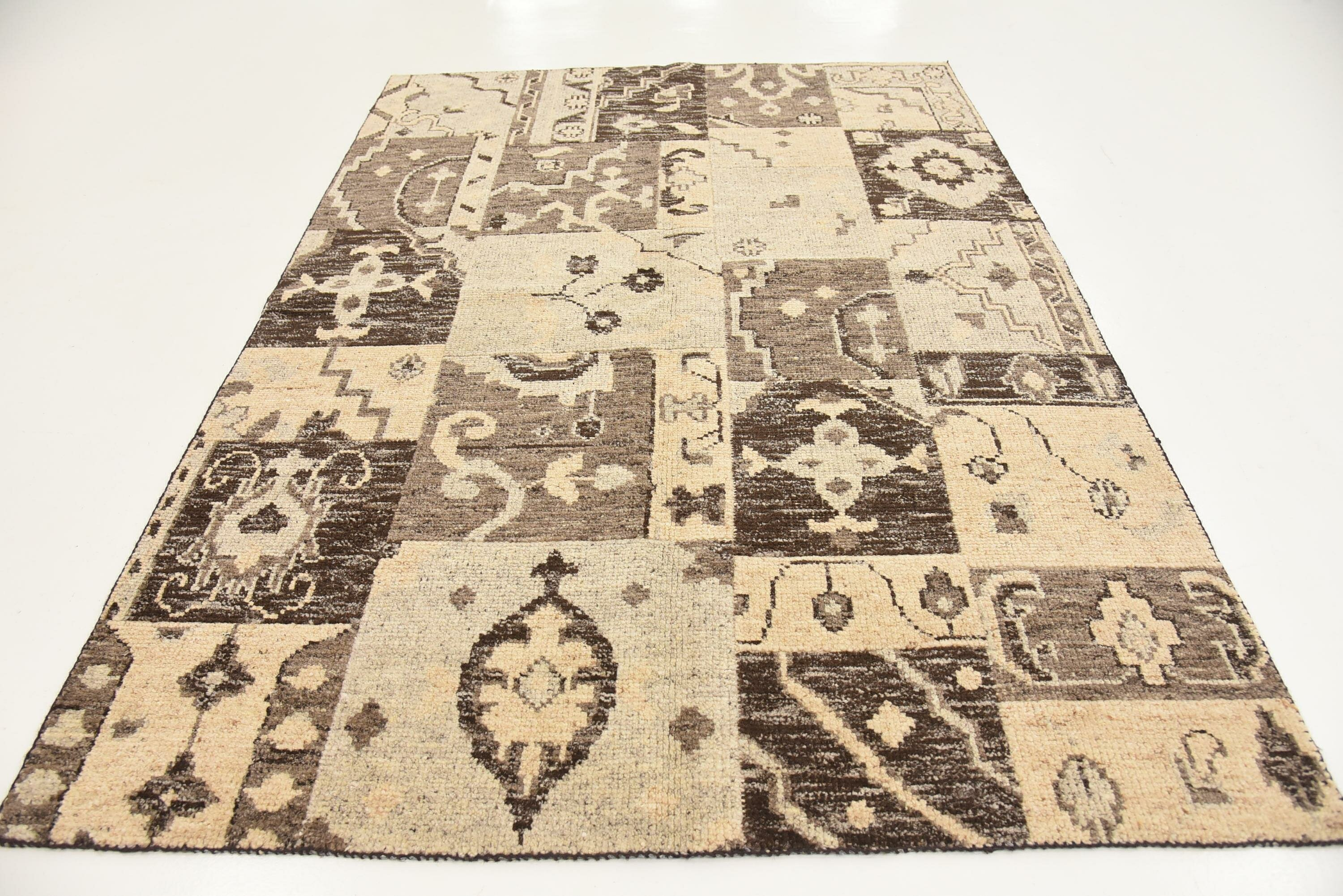 Hand Knotted New Age Beige Brown