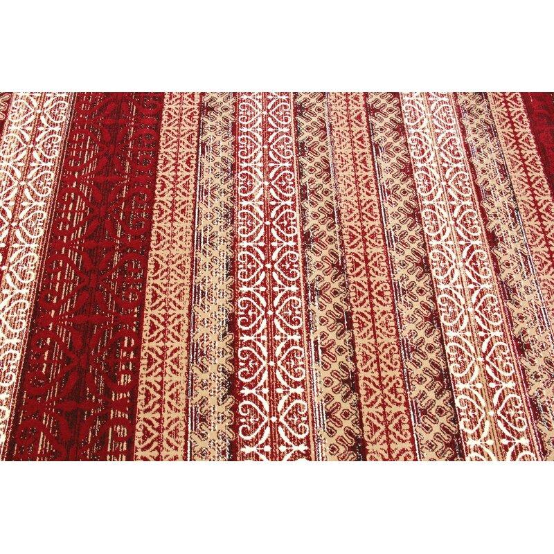 Doreen Decorative Modern Contemporary Southwestern Rectangle Red Beige Area Rug