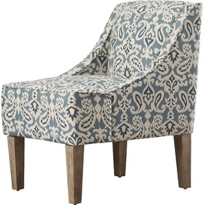 Geometric Hardwood Frame Slipper Chair by Andover Mills