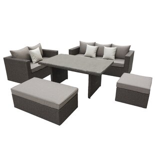 Brinkley 5 Piece SofaSet with Cushions