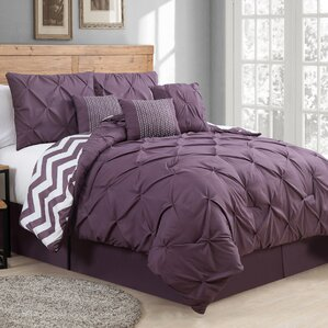 Germain Comforter Set Modern Purple Bedding Sets  AllModern