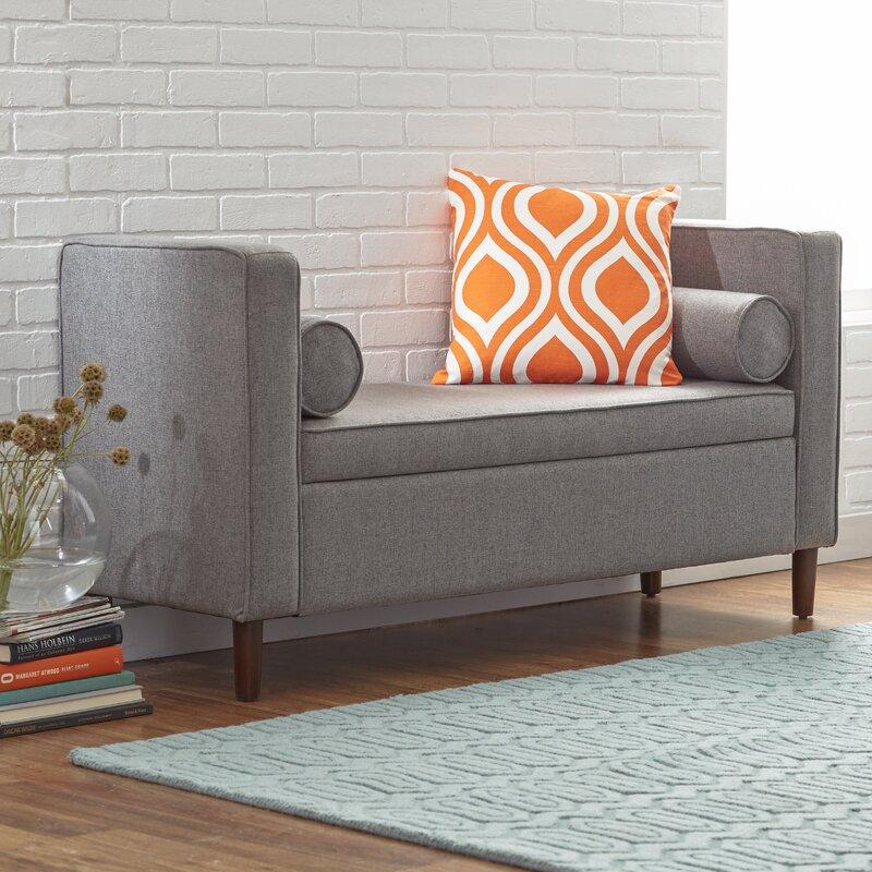 Janice Upholstered Storage Bench & Reviews | Joss & Main