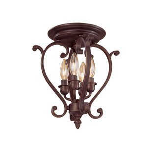 Hambleden 4-Light Semi-Flush Mount by Alcott Hill