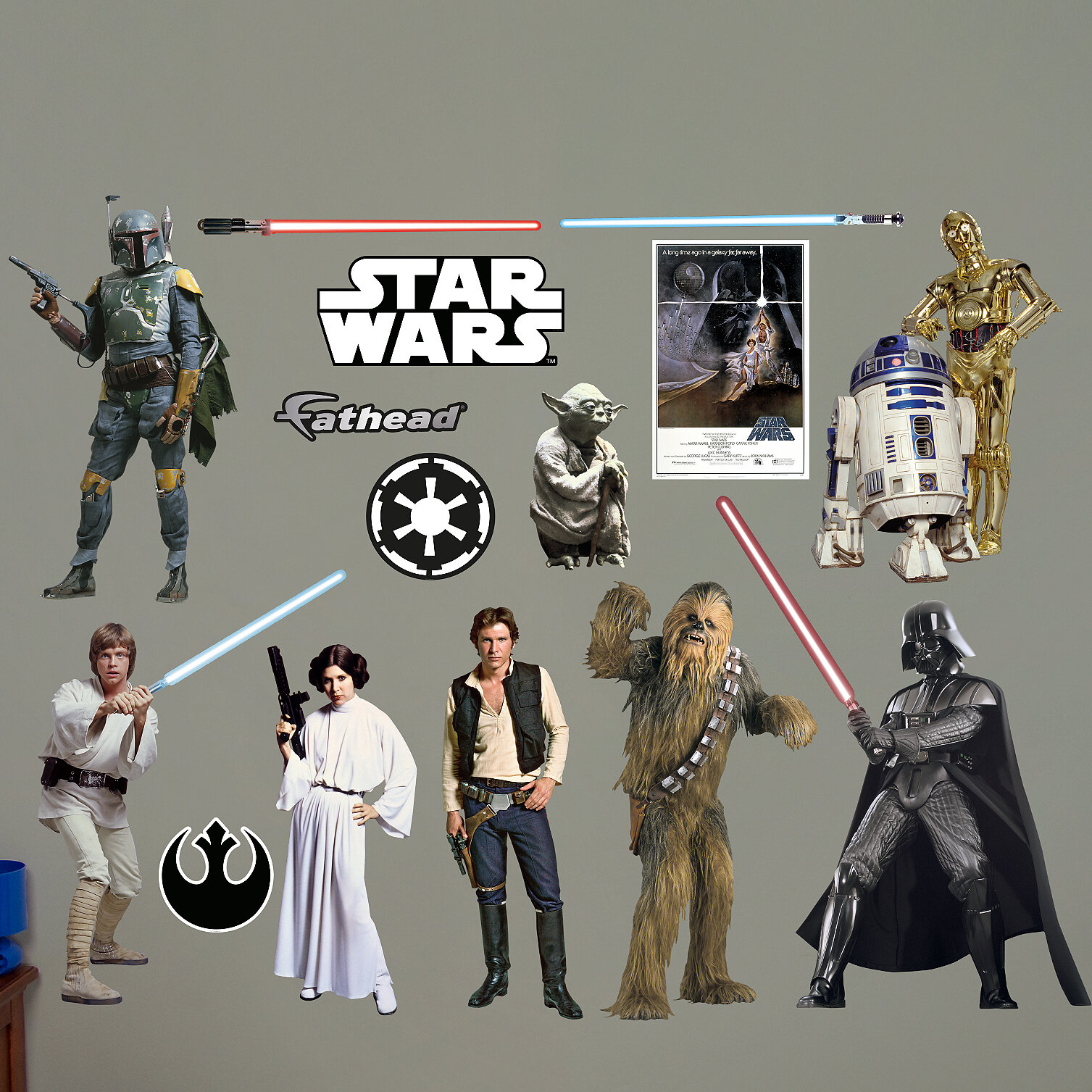 Fathead Star Wars Original Trilogy Characters Peel And Stick Wall Decal Wayfair