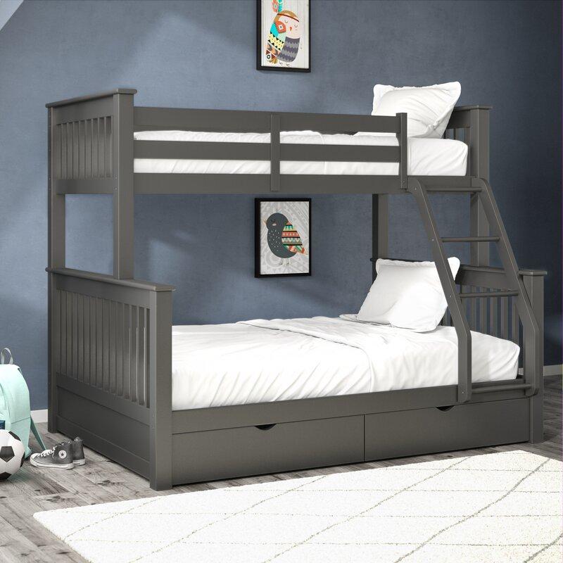 Grovelane Aditya Twin Over Full Bunk Bed With Drawers Reviews Wayfair