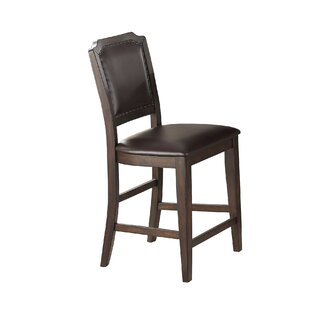 Gustafson Cushioned Upholstered 26 Bar Stool (Set of 2) Charlton Home