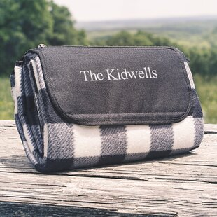 Personalized Plaid Picnic Blanket