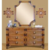Marlene 6 Drawer Double Dresser with Mirror by Bayou Breeze