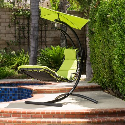 Leon Polyester Hanging Chaise Lounger With Stand by Freeport Park Purchase