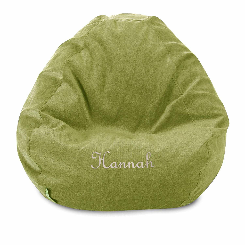 Fabulous Personalize Embroidered Bean Bag Chair Inzonedesignstudio Interior Chair Design Inzonedesignstudiocom