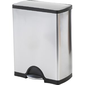 Steel 13 Gallon Step On Trash Can