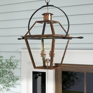 Laurel Foundry Modern Farmhouse Lois 4-Light Outdoor Hanging Lantern