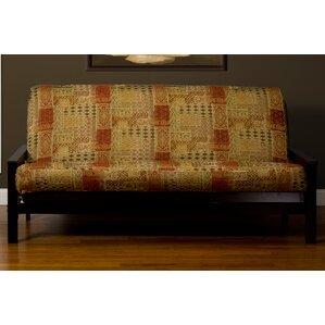 Lenzee Zipper Box Cushion Futon Slipcover by Bungalow Rose