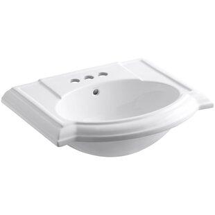 Deals Devonshire® Ceramic 24 Pedestal Bathroom Sink with Overflow ByKohler