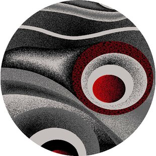 Mccampbell Red/Gray/Black Area Rug by Ivy Bronx