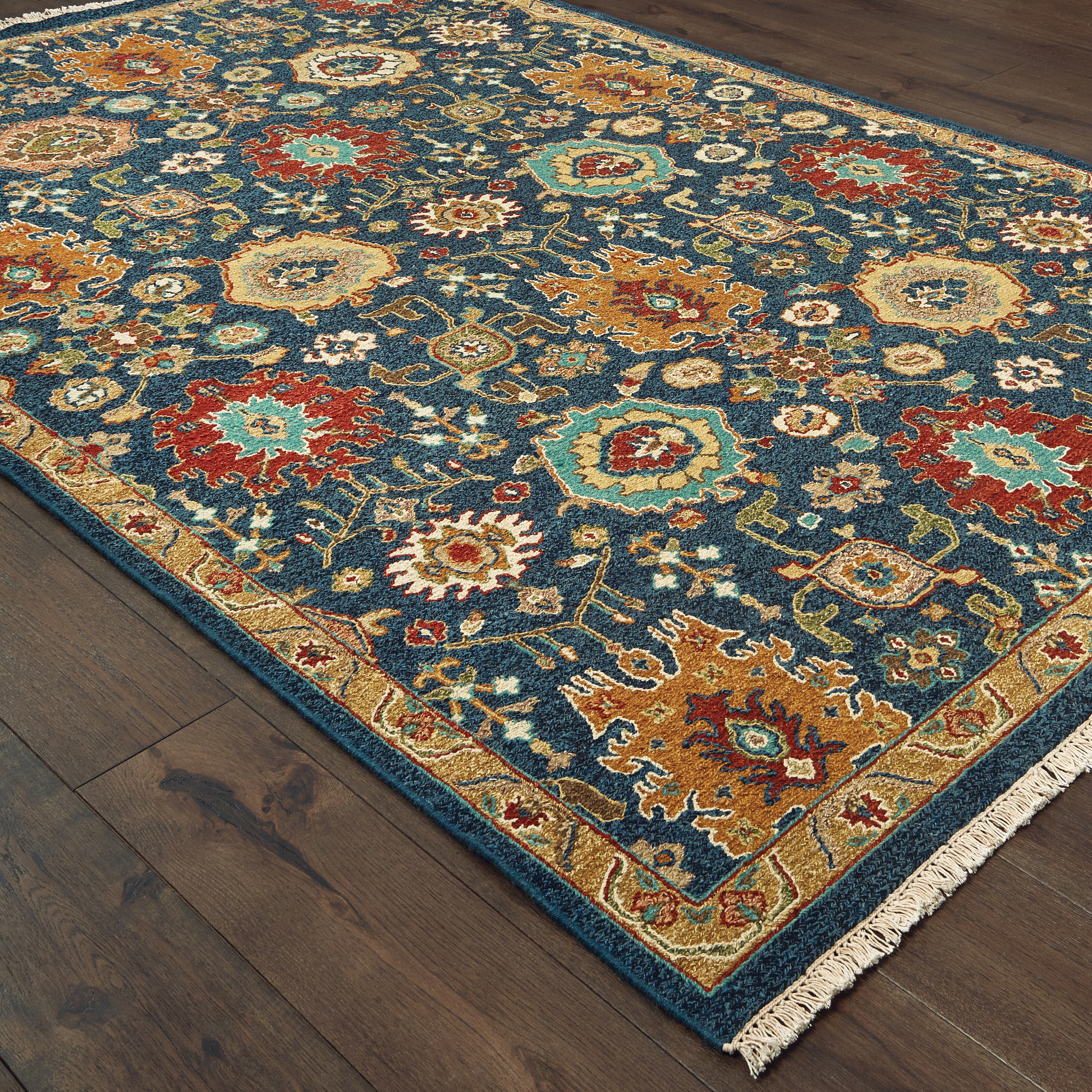 Tommy Bahama Home Angora Oriental Handmade Flatweave Wool Navy Blue Brown Area Rug Wayfair