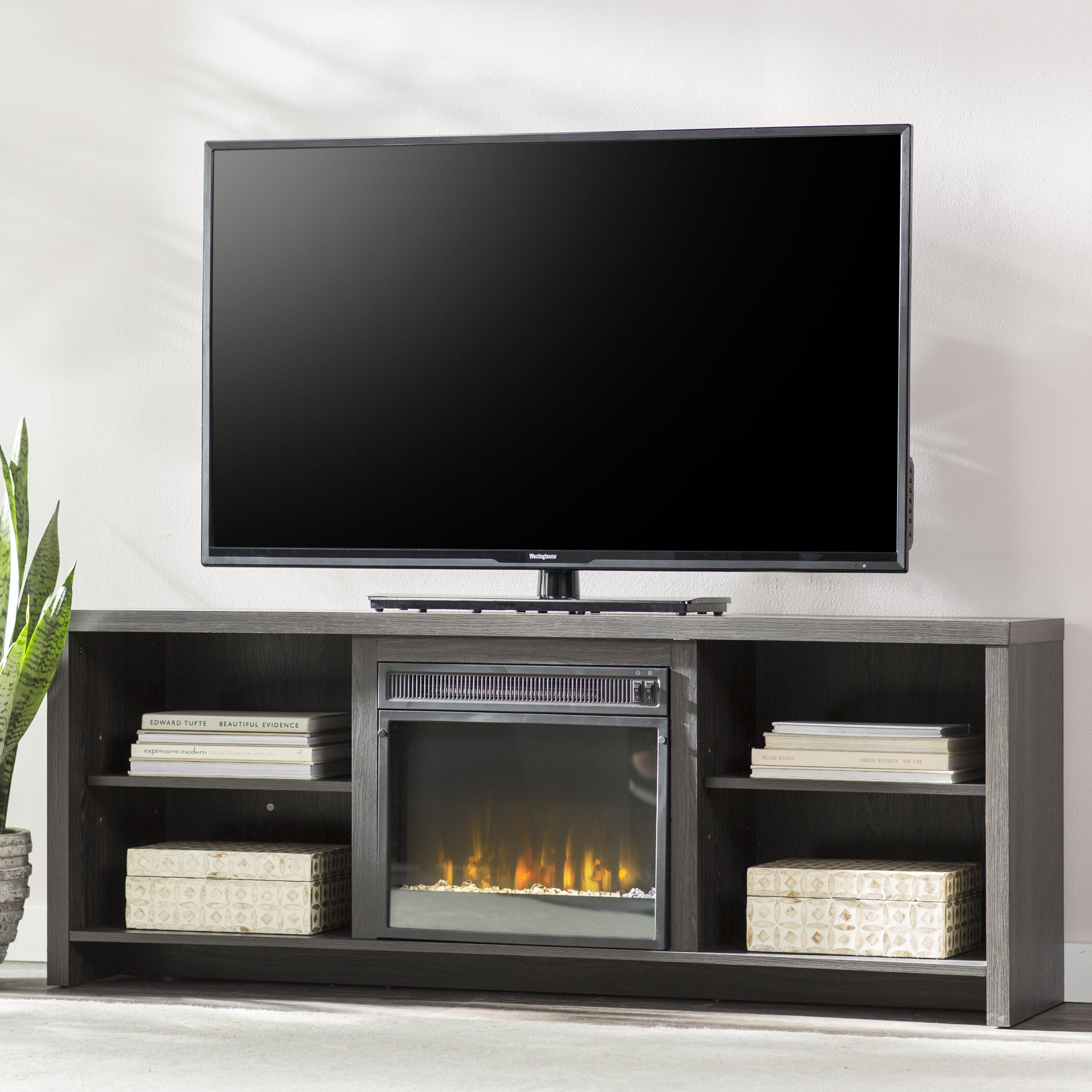 Mercury Row Pelton Tv Stand With Fireplace Reviews Wayfair