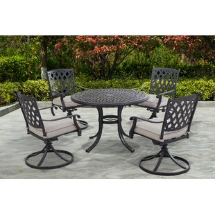 Boissonneault Bar 5 Piece Dining Set with Cushions