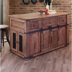 rivard 3 drawer kitchen island - Rustic Kitchen Island