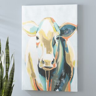 Colorful Cow Pictures Wayfair