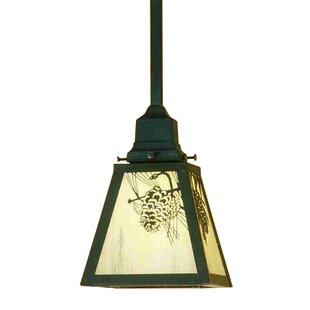 Meyda Tiffany Winter Pine 1-Light Lantern Pendant